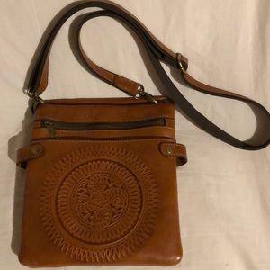Patricia Nash leather crossbody medallion bag